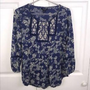 Lucky Brand l Floral Print Tunic